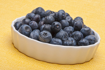 Fresh Bowl of Blueberries