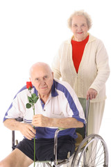 handicap senior with wife