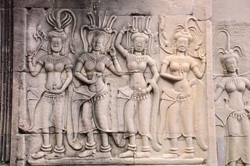 Apsara - Stone carving of angels at Angkor Wat