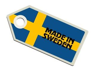vector label Made in Sweden