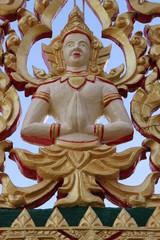 art on gable of temple, Wat Tarae, Mahasarakam