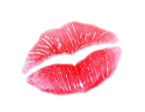 Nahtloses Muster Mit Einem Lippenstift Kuss
