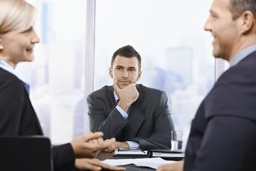 Professionals at meeting