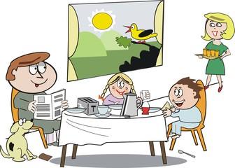 Funny breakfast cartoon
