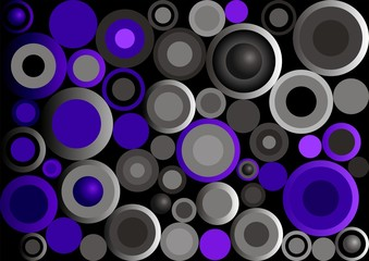 Retro Circles_Violet