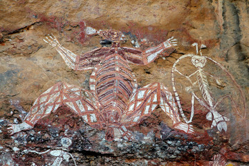 Wall Mural - Aboriginal rock art at Nourlangie, Kakadu N/P, Australia