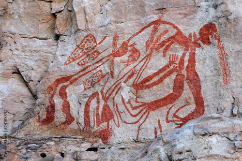 Wall mural Aboriginal rock art at Ubirr, Kakadu N/P, Australia