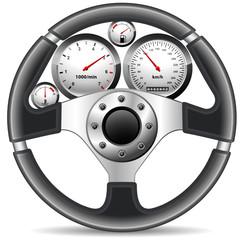 Fototapete - Auto Cockpit