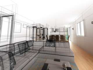 interior wireframe