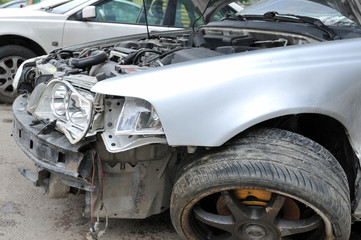 Car accident - a series of CRASHED CAR images.