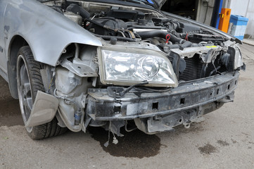 Crashed car - a series of CRASHED CAR images.