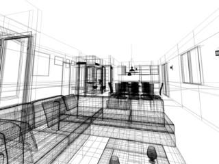 interior wireframe progetto