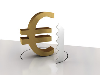 Falling of euro