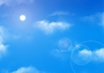Ciel bleu et nuages 2
