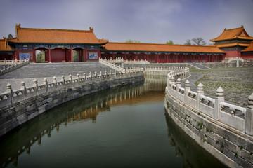 Beijing Forbidden City: canal through the complex.