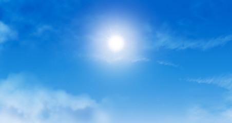 Ciel bleu et nuages 1