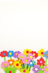 anny flower on white background