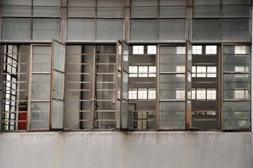 Open windows on facrtory