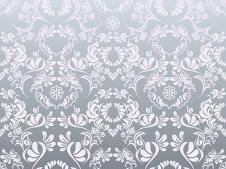Abstract silver decoration pattern