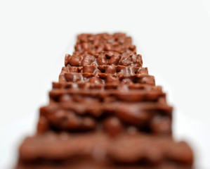 Fototapete - Reiswaffeln mit Schokolade Puffreis
