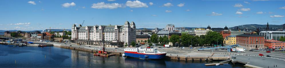 Blick von der Oper in Oslo - Panorama