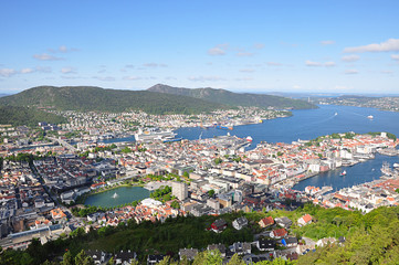 Bergen from Mount Floien Norway