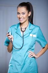 Portrait of beautiful female doctor