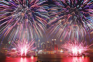 Wall Mural - New York City fireworks show