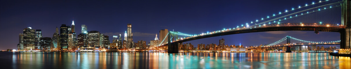 Fototapete - Brooklyn Bridge panorama in New York City Manhattan