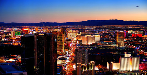 Printed roller blinds Las Vegas Las Vegas City Skyline panorama