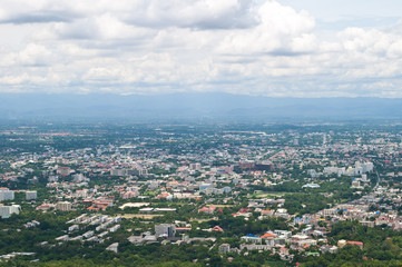 view of City in Chiangmai province,Thailand