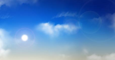 Ciel bleu et nuages 5