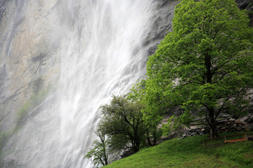 Waterfall in Switzerland