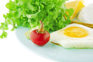fried eggs and cottage cheese