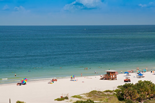 Lido Beach, on Siesta Key, Sarasota, Florida