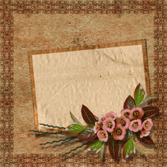 Vintage background for invitation and photo.
