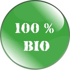bouton 100 % bio
