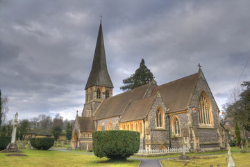 HDR photo of old church