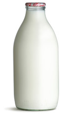 Fototapeta old fashioned pint glass bottle of milk obraz
