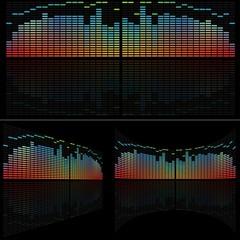 LED Analyzer Set - colored background illustration