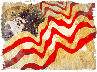 Abstrat grunge background of USA flag