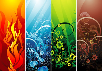 Earth elements vector composition