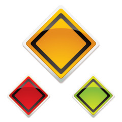 warning sign trio