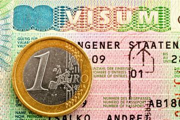 Schengen Visa and Euro.
