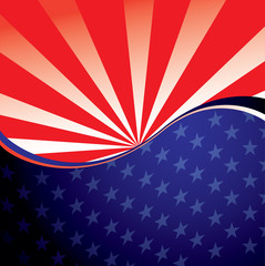 USA radiate background