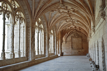 Jeronimos Monastery of  Belem, Lisbon, Portugal.