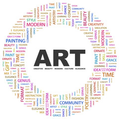 ART. Circular frame with association terms.
