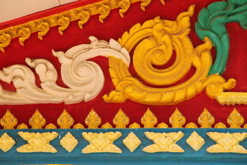 art on gable, Wat Kok Klang, Borabue, Mahasarakam