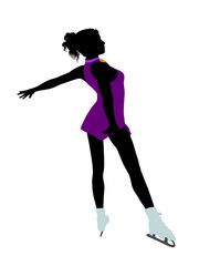 Female Ice Skater Art Illustration Silhouette