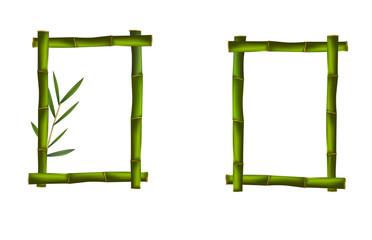 Green bamboo frames. Vector.